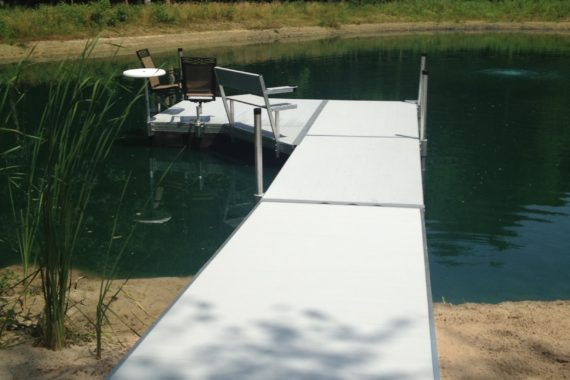 Floating dock small pond