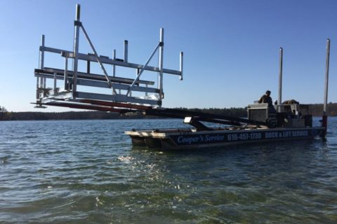 boat lift removal barge