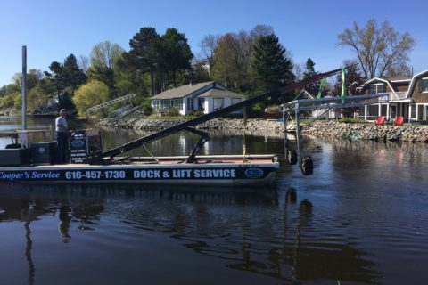 dock removal barge